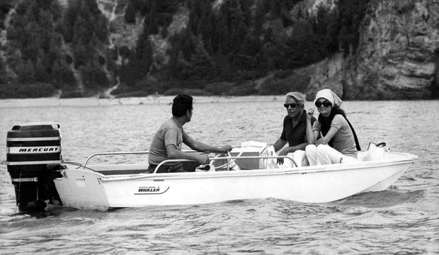 Jackie Kennedy et Aristotle Onassis, en vacances à Skorpios