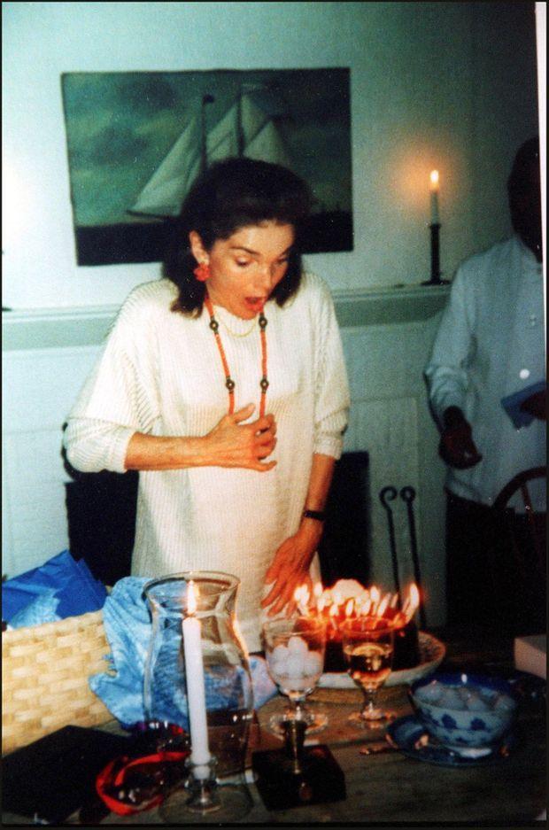 Le dernier anniversaire de Jackie Kennedy, le 28 juillet 1993 à Martha's Vineyard.