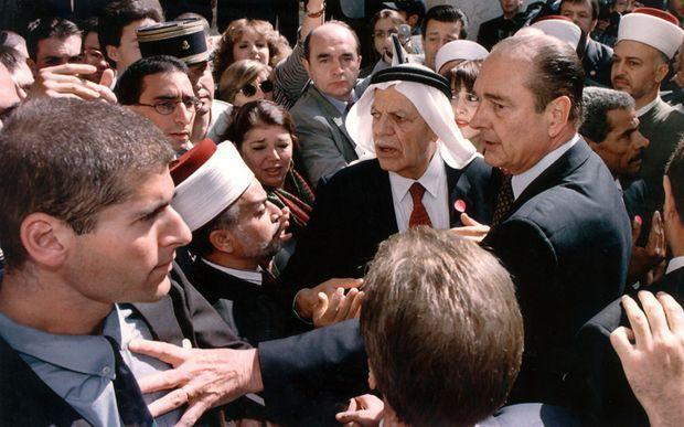 Jacques Chirac à Jérusalem, le 22 octobre 1996.