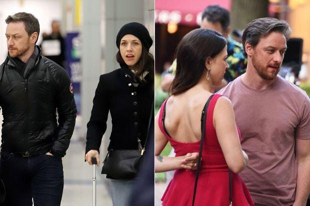 James McAvoy et Lisa Liberati : à droite à New York en janvier 2019, à gauche à Philadelphie en juillet. La jeune femme y est alors vue avec son alliance.
