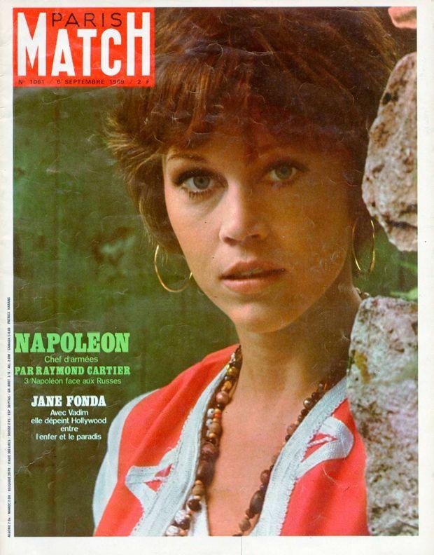 Jane Fonda en couverture de Paris Match n°1061, 6 septembre 1969