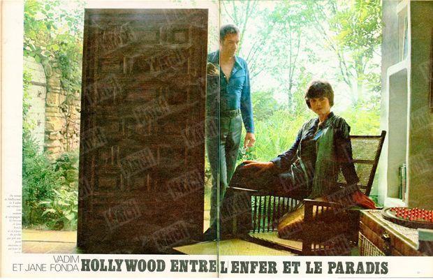 « Roger Vadim et Jane Fonda, Hollywood entre l'enfer et le paradis » - Paris Match n°1061, 6 septembre 1969