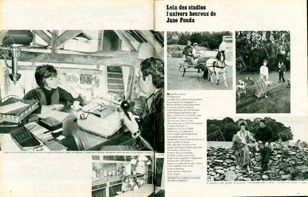 « Loin des studios, l'univers heureux de Jane Fonda » - Paris Match n°1061, 6 septembre 1969
