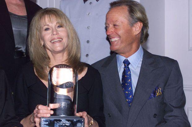 Jane Fonda et son frère Peter Fonda en 1999.