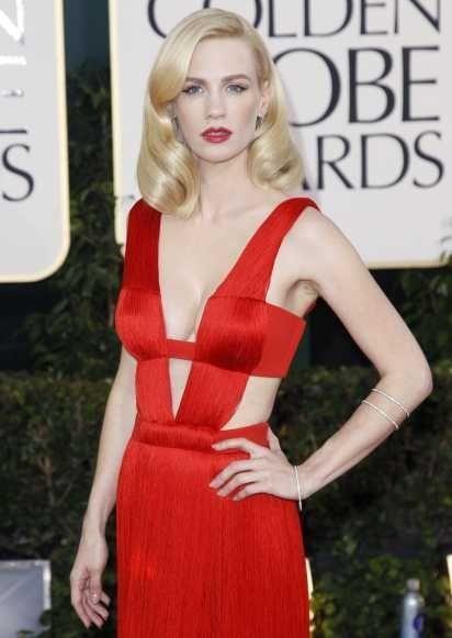 January Jones aux Golden Globes-