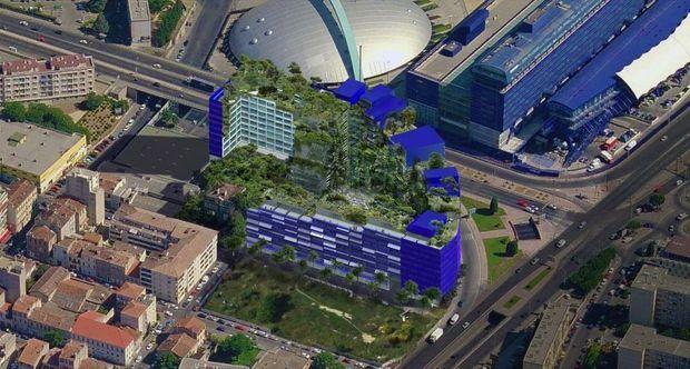 Jardins et façades intérieures végétales pour le projet de logements « La Calanque » à Marseille.