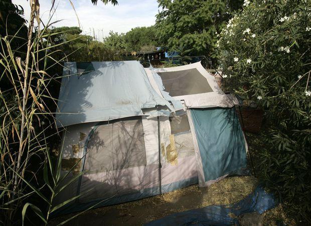 Dans l'arrière-cour de Phillip Garrido, où était séquestrée Jaycee et ses enfants.