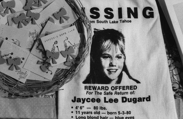 L'avis de recherche de Jaycee Lee Dugard.