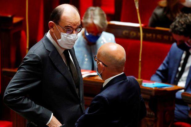 Jean Castex et Eric Ciotti à l'Assemblée nationale, le 29 octobre 2020.