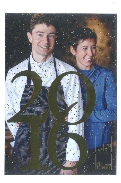 Jean et Magali Sulpice, l'amour au sommet d'une cuisine qui respire la joie de vivre. Interprétation libre de leur carte de vœux étoilée !