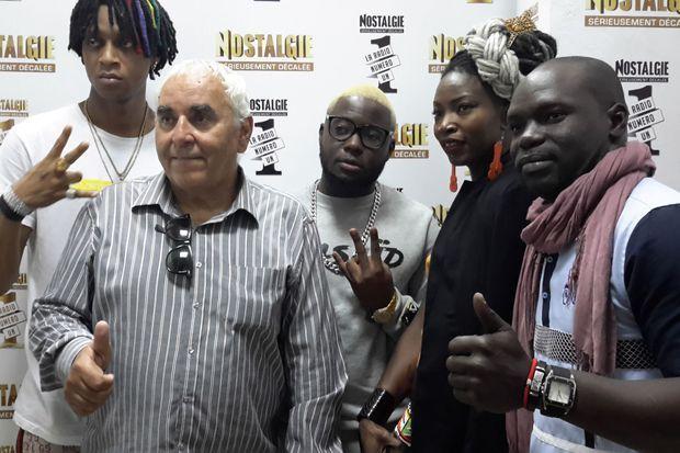 Jean-Michel Denis après une intervention sur Radio Nostalgie à Abidjan