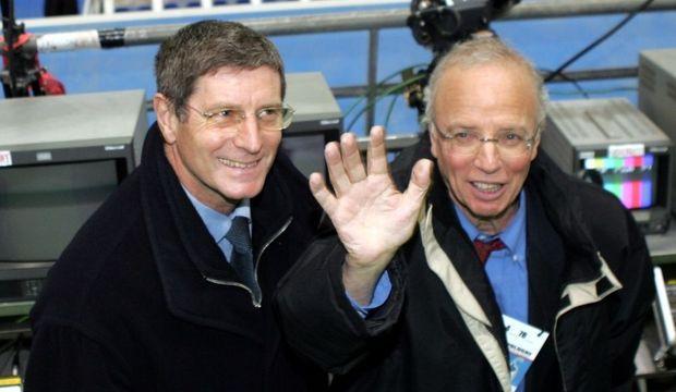 Jean-Michel Larqué et Thierry Roland-