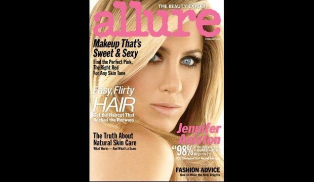 """Jennifer Aniston en couverture de """"Allure"""""""