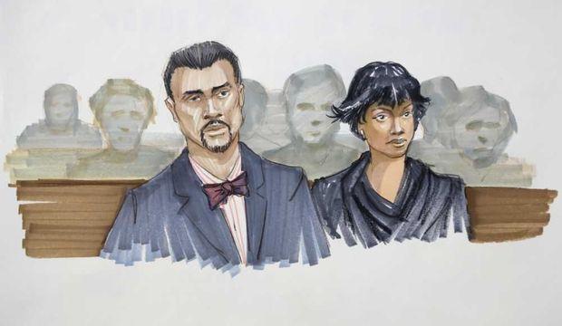 Jennifer Hudson et David Otunga au procès de William Balfour-