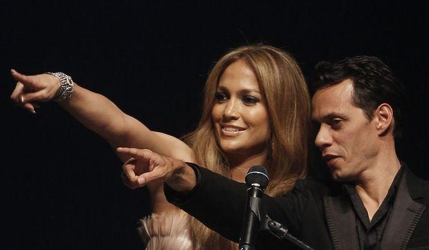 Jennifer lopez et Marc Anthony au gala de l'AmfAr en mai 2010-
