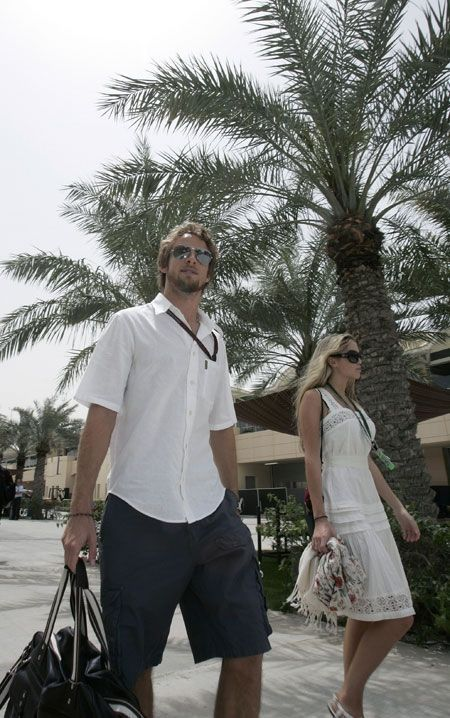 Jenson Button et Florence Brudenell-Bruce-