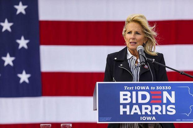 Jill Biden dans l'Iowa samedi dernier.