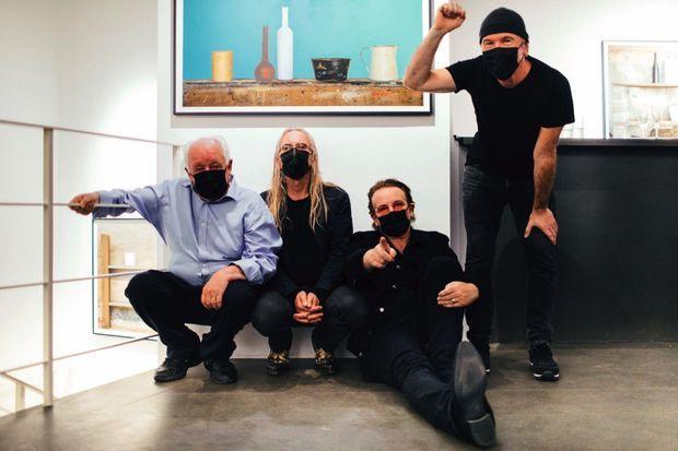 Jim Sheridan, Guggi, Bono et The Edge.
