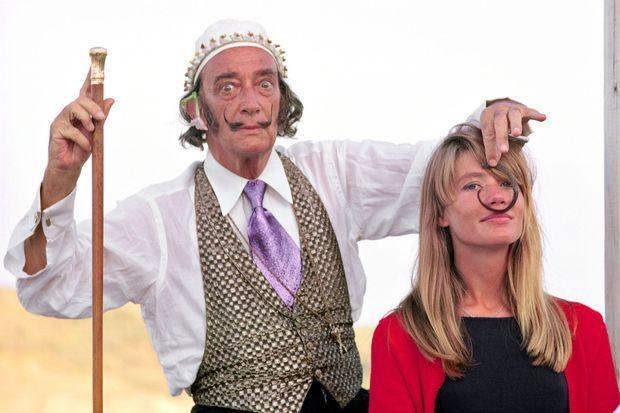 Salvador Dali et François Hardy