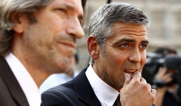 John Prendergast et George Clooney-