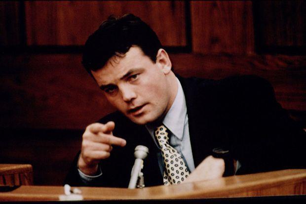 John Wayne Bobbitt lors du procès de Lorena, en janvier 1994.
