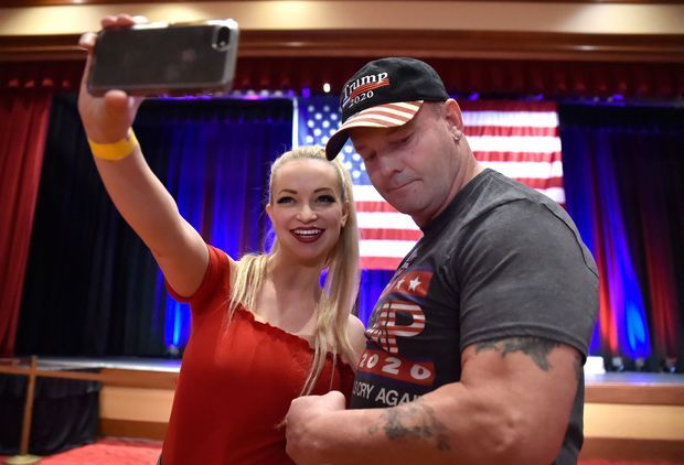 John Wayne Bobbitt, lors d'un meeting du Parti Républicain à Las Vegas en novembre 2018.