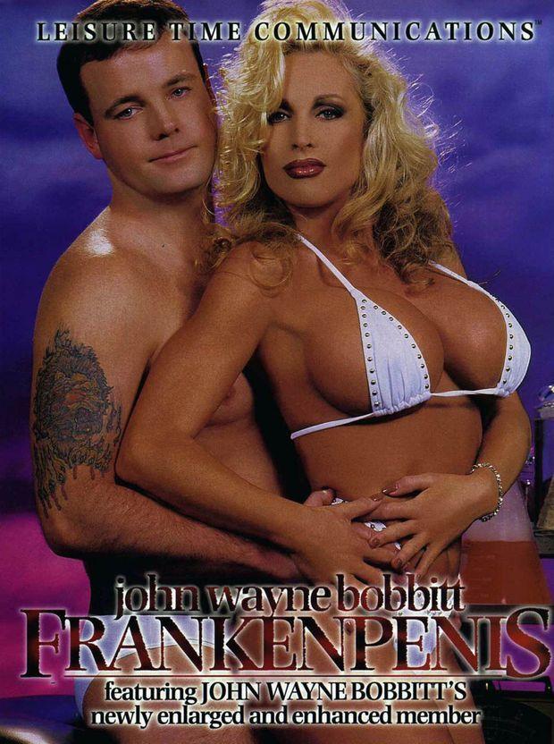 """John Wayne Bobbitt sur la pochette de sa seconde vidéo porno """"Frankenpenis"""", sortie 1996."""
