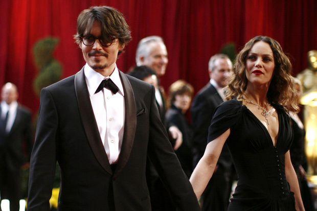 Johnny Depp et Vanessa Paradis en 2008