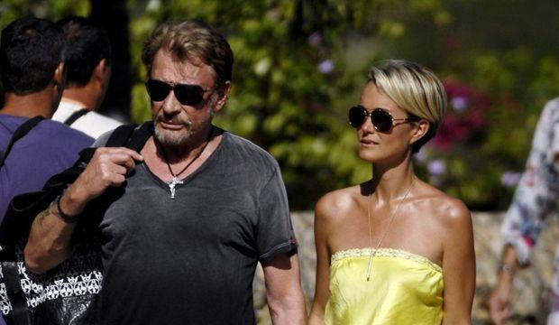 johnny et Laeticia hallyday à Saint-Barth-