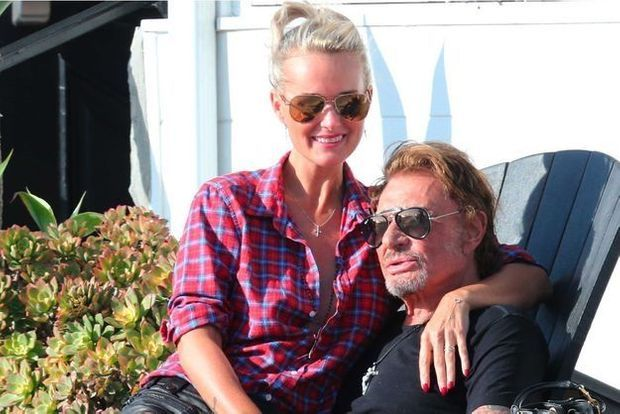 Johnny Hallyday et Laeticia en septembre 2014.