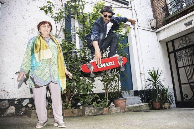 Agnès Varda et JR.