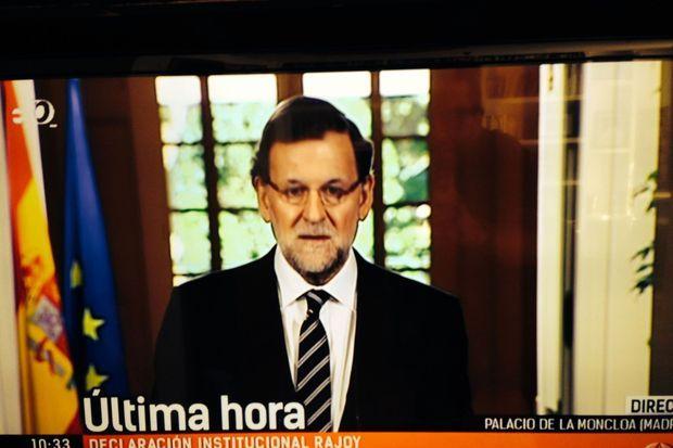 Juan Carlos faisant cette déclaration historique à la télévision espagnole.