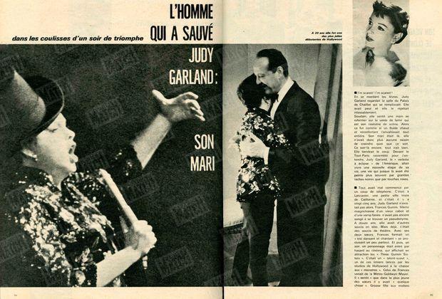 Judy Garland, dans les coulisses d'un soir de triomphe.