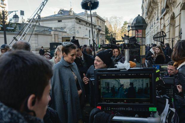 Julie de Bona sur le tournage du premier épisode de la série et Camille Lou