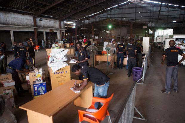 L'entrepôt de la société de vente en ligne Jumia, à Lagos