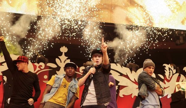 Justin Bieber sur scène-