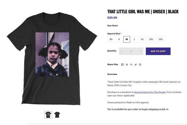 Le tshirt vendu par la campagne de Kamala Harris.