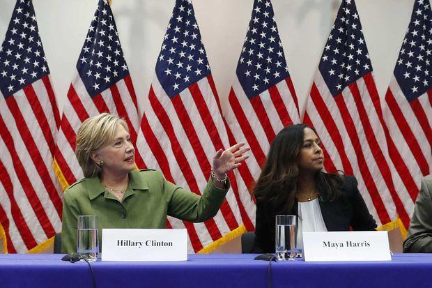 Hillary Clinton et Maya Harris, en août 2016.