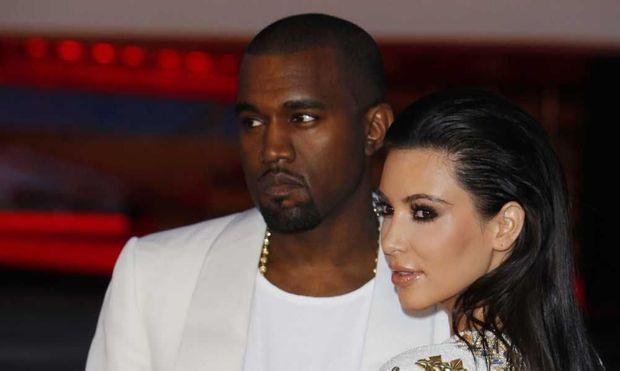 Kanye West et Kim Kardashian-
