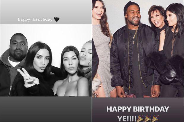 Kourntey Kardashian et Kylie Jenner célèbrent l'anniversaire de leur beau-frère Kanye West le 8 juin 2019