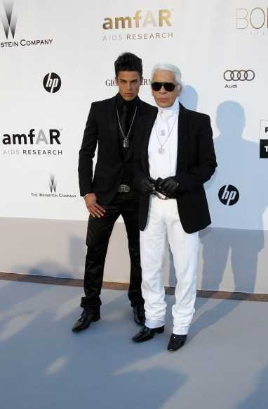 Karl Lagerfeld et Baptiste Giabiconi-