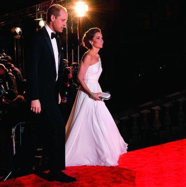 Kate et William lors de la 72e cérémonie des Bafa au Royal Albert Hall, à Londres, le 10 février
