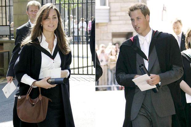 Kate Middleton et le prince William le jour de leur remise de diplôme à St Andrews en juin 2005