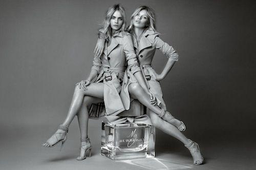 Kate Moss et Cara Delevingne, égéries Burberry