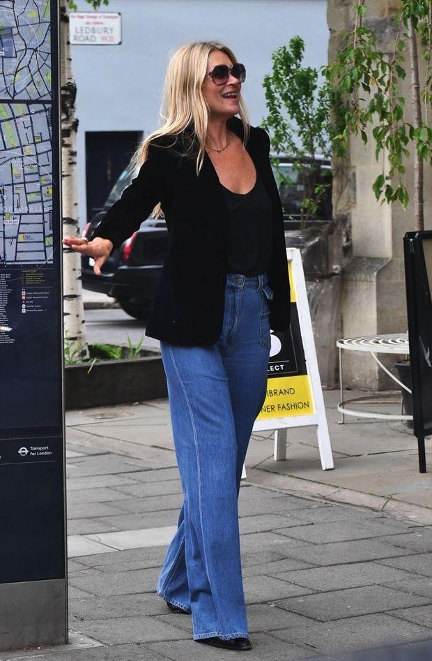 Kate Moss et son jean Gerard Darel