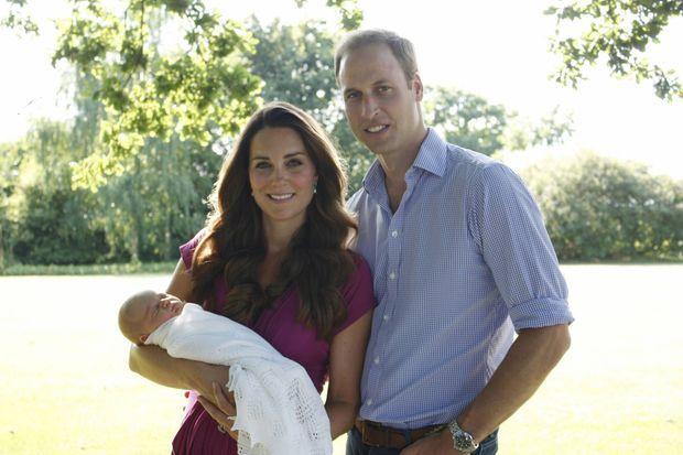Kate, William et le petit George.