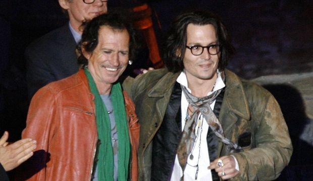 Keith richards Johnny Depp-