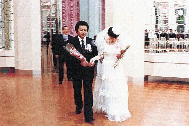 Le mariage de Kenji Fujimoto et d'Om Jong Nyo, le 26 février 1989.