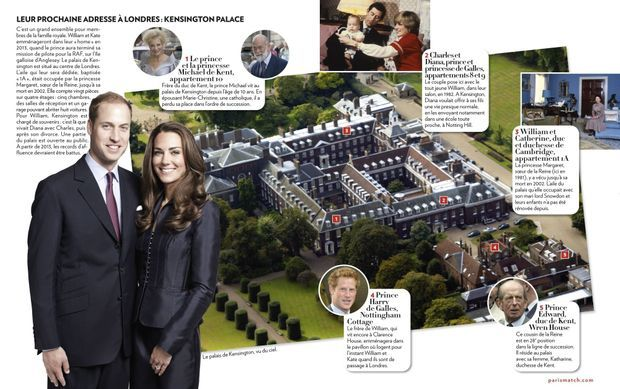 Kensington palace infographie Paris Match-