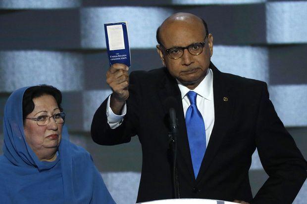 Khizr Khan et son épouse Ghazala le 28 juillet dernier.